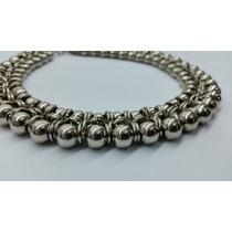 Collar Gargantilla Medieval En Níquel Con Perlas De Metal
