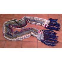 Echarpe Tejido A Mano Crochet 2metros De Largo X 15 Cms