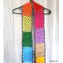 Bufandas De Grannys Tejidas A Crochet. Merino Sedificado.