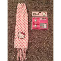 Pañuelo Hello Kitty Más Set Para Pelo. Oferta!!