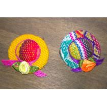 Prendedor Pin Sombrerito Coya Andina Aguayo Souvenirs X48u