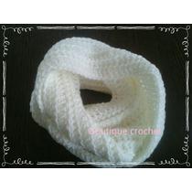 Bufanda Infinita De 3 Vueltas Tejida Al Crochet