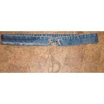 Cinturon De Jean Azul Con Camel