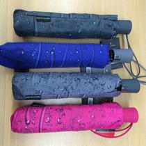 Paraguas Corto Efecto Gotas Lluvia Colores Pierre Cardin