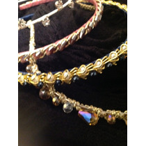 Vinchas,tiaras Bordadas Con Perlas,piedras,strass Hermosas!