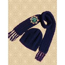 Bufanda Y Gorro Artesanal Tejido A Crochet Para Niñas- Niños