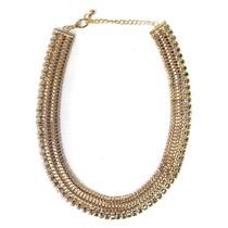 Collar Steel Dorado Cadena Mujer Noche Fiesta