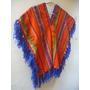 Poncho De Awayo Para Niños Carnavalito Folklore Noroeste