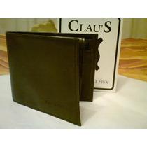 Billetera En Cuero Color Negra Sin Uso