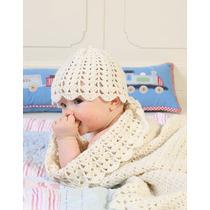 Gorros Bebes Crochet Flor Tejido Lana Invierno