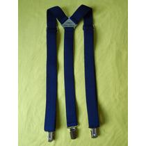 Tirador Pantalón Suspenders Pinza Madison Azul Francia 3cm