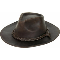 Sombrero Australiano Cuero Engrasado Sombreros Mujer Hombre