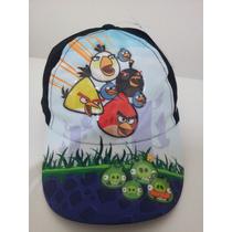 Gorra Con Visera- Angry Birds- De 4 A 7 Años- Original