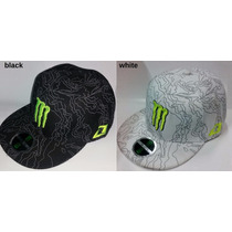 Gorra Visera Plana Americana Original Monster One Motocross
