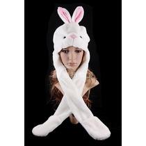 Gorro Peluche Animal Conejo C/bufanda-divertido Abrigado