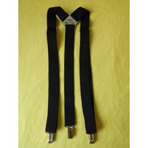 Tirador Pantalón Suspenders Clàsico Pinza Madison Negro 3cm