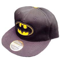 Gorra Batman Plana Visera Gorro Negro