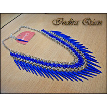 Collar Azul Eléctrico