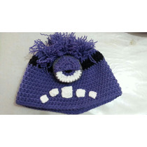 Gorro Lana Tejido Al Crochet - Minions