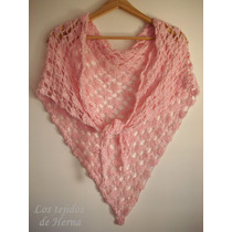 Chalina - Chal De Algodón Sedificado Tejido A Crochet