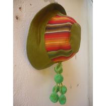 Sombrero Tipo Coya De Aguayo Decorado Con Tulmas Jujuy