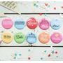 200 Pins Personalizados Para Casamiento De 38mm