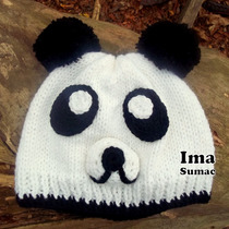 Gorros De Lana Al Crochet. Artesanales Oso