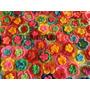 Flor Doble Tejida Al Crochet Ideal Aplique Deco Souvenir