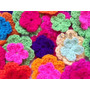 Flores Dobles Tejidas Crochet Pack X 30 Ideal Deco Souvenirs