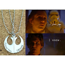Star Wars Collar Alianza Rebelde Collar I Love You I Know X2