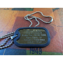 Chapitas Militares- Dog Tags- Chapas De Identificacion