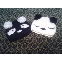 Gorritos Artesanales Tejidos Panda