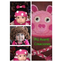 Gorros Tejidos Crochet Mickey Minions Monsters Kitty Peppa