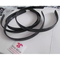 12 Bases Para Vinchas Plastico Negro 1cm De Ancho