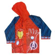 Piloto De Lluvia Infantil Avengers Original Con Licencia
