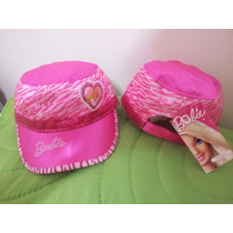 Gorra Con Visera- Barbie Animal Print- 5 A 9 Años- Original-