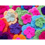 Flores Dobles Tejidas Crochet Pack X 40 Ideal Deco Souvenirs
