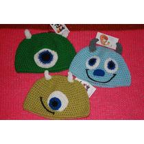 Gorros Monster Inc. Realizados A Crochet