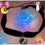Choker Gargantilla Dije Luna Y Artemis Sailor Moon