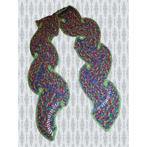 Bufanda En Abanicos Tejida A Mano-crochet