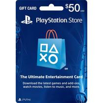 Psn Card De 50 U$s Al Mejor Precio Del Mercado! Ps3 Y Ps4