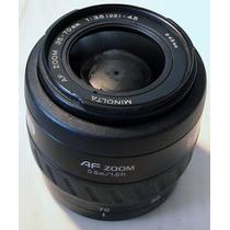 Lente Minolta Af 35-70 Autofoco En Sony Alfa Reflex Digital