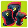 Kit Protecciones Ferrari Rodillera Codera Roller Skate Patin