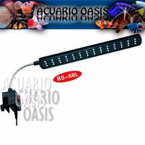 Iluminador A Led Rs-68 L Con Clip P/ Acuarios De 40 A 60 Cm
