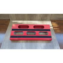Pedalboard Tabla Base Pedales Metalico Rojo Con Bolso