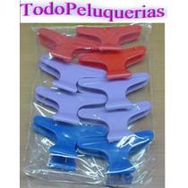12 Broche Separador De Cabello Marca Rossello * Peluquerias