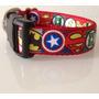 Collar Perro Marvel Vengadores Batman Superman Tela
