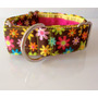 Collar Perro Martingale Flores Pitbull Galgo Whippet
