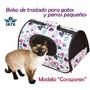 Bolso Transportador De Gatos Y Perros Apto Cabina Aérea