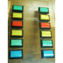 Pulsador Rectangular De Varios Colores Con Luz